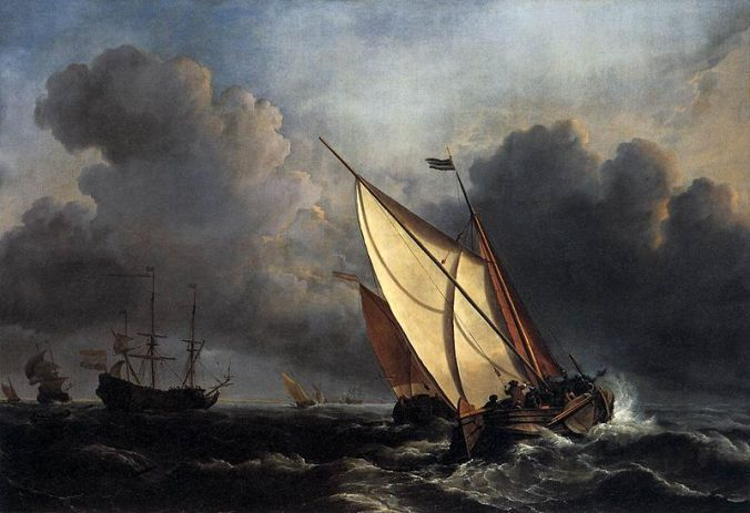 Willem_van_de_Velde_the_Younger,_Ships_on_a_Stormy_Sea_(c._1672)